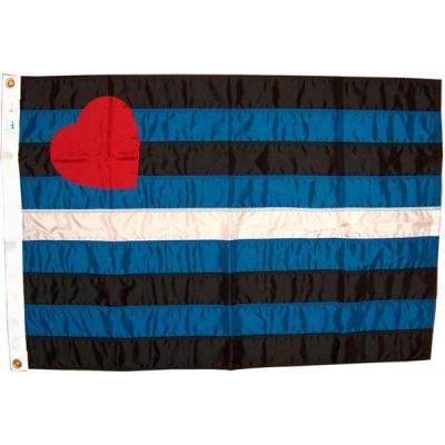 Leatherpride - kožeňácká vlajka 150 x 90 cm