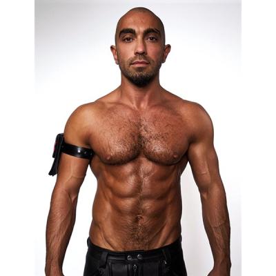 Mister B Leather Biceps Band for Wallet Black - bicepsová paska pro připevnění peněženky