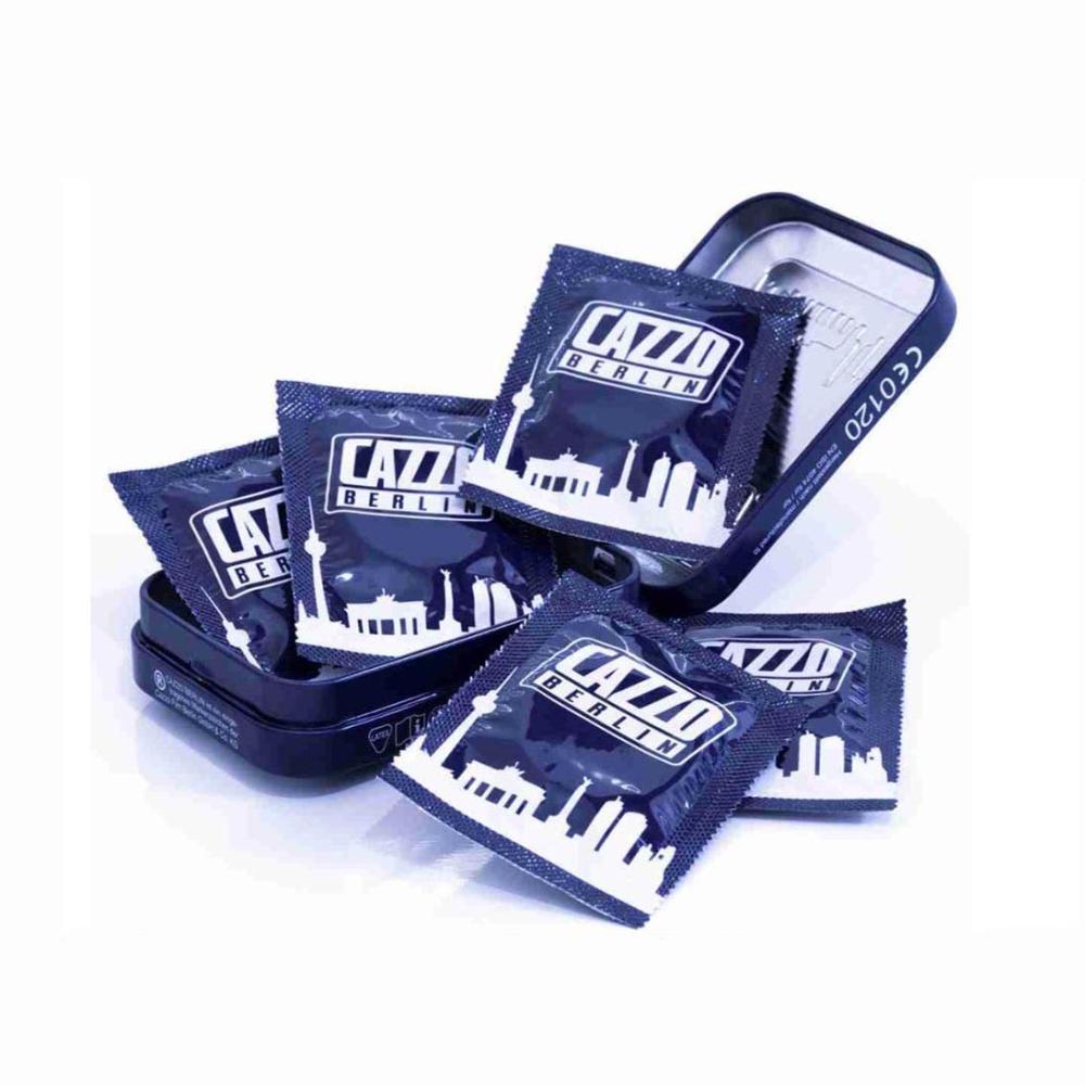 CAZZO BERLIN Metal Box with Condoms - kondomy 5 kusů