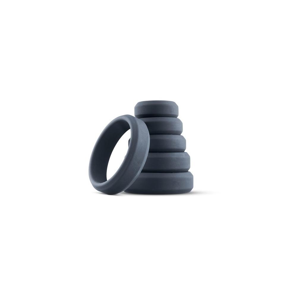 BONERS Wide Cock Ring Set - sada silikonových erekčních kroužků 6 kusů