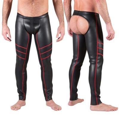 665 Neoprene Open Ass Pants Red - neoprenové kalhoty s otevřeným pozadím