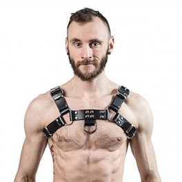 Mister B Chest Harness Saddle Leather Black