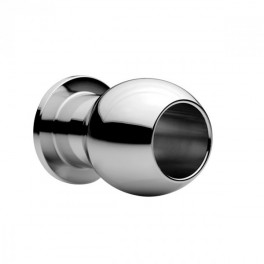 Master Series Large Abyss - Steel Hollow Anal Plug 7,5 x 5 cm