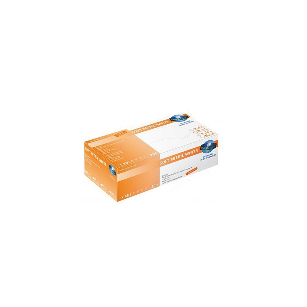 Unigloves Soft Nitril White Gloves100 Pcs