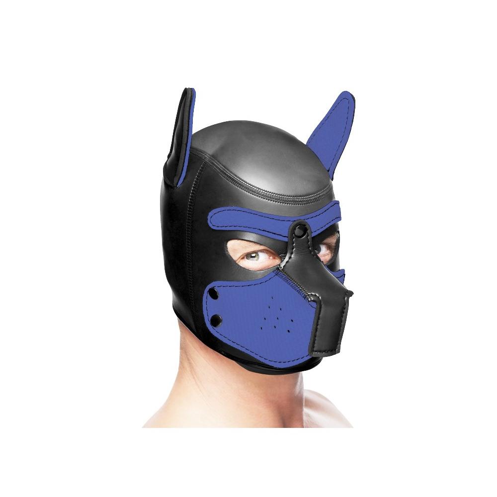 Master Series Spike Neoprene Puppy Hood - Black and Blue