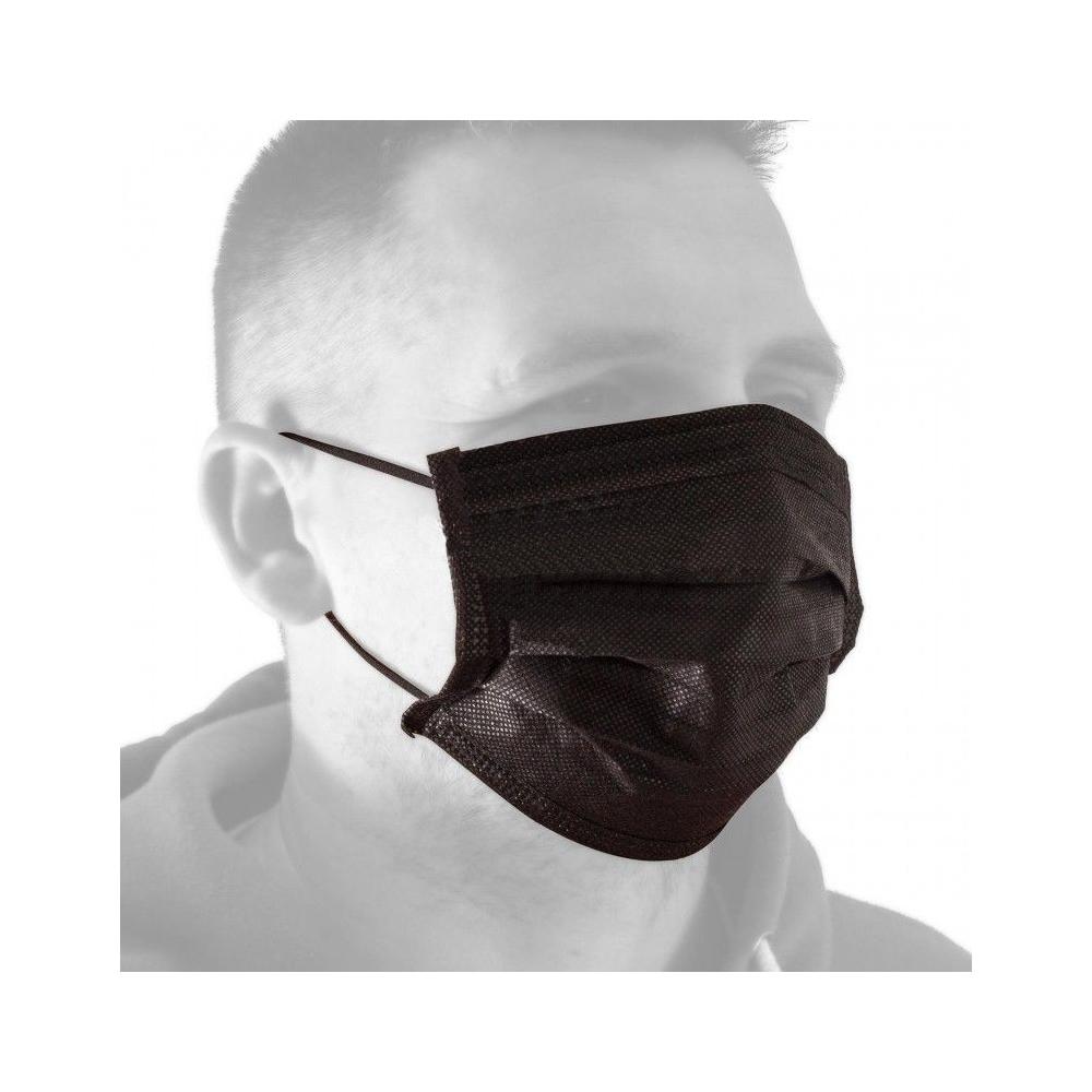 Unigloves Black Dragon Face Mask - black disposable face mask 50 pcs