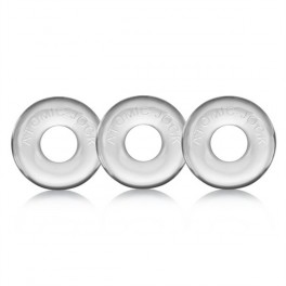 Oxballs Ringer Cock Ring 3 Pack Clear