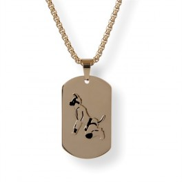 Master of the House Dog Tag Puppy Gold Plating
