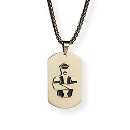 Master of the House Dog Tag Stainless Steel Gold Plating